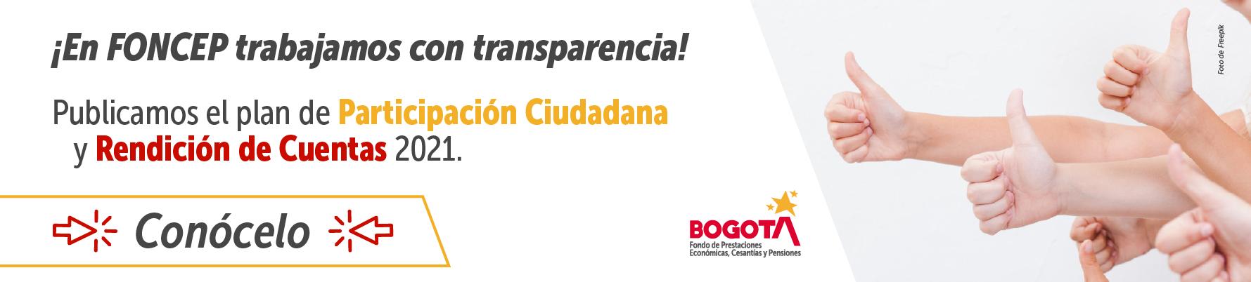 Plan de Participación Ciudadana y Rendición de Cuentas 2021