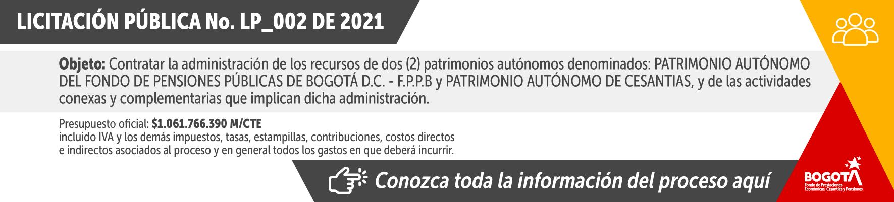 Licitación pública No. LP_002 de 2021 - Haga clic aquí