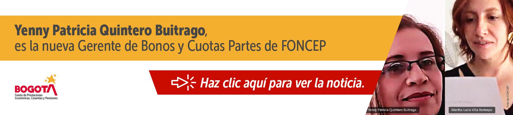 Posesión Yenny Patricia Quintero Buitrago nueva gerente Bonos y CP