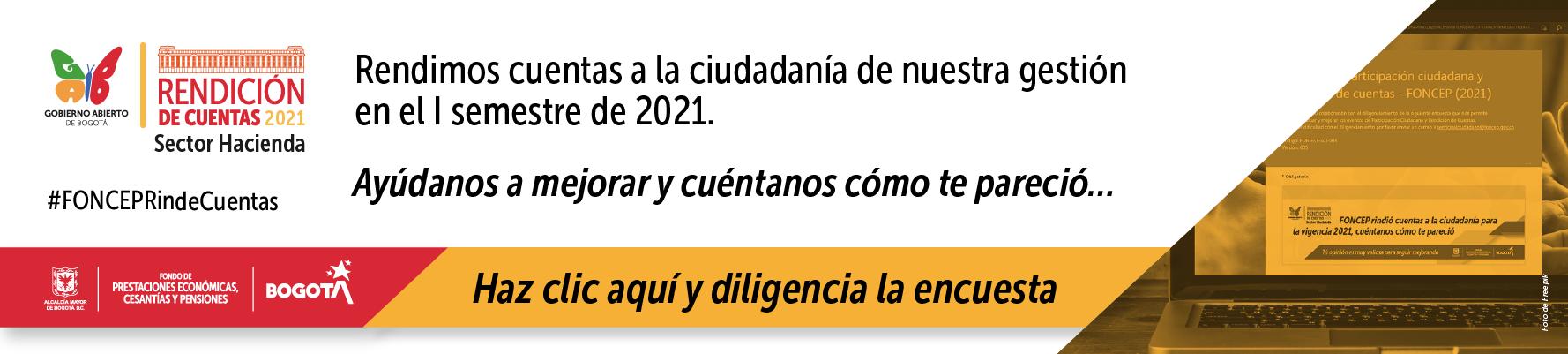 Encuesta Final Rendición de Cuentas Sectorial julio 15 de 2021